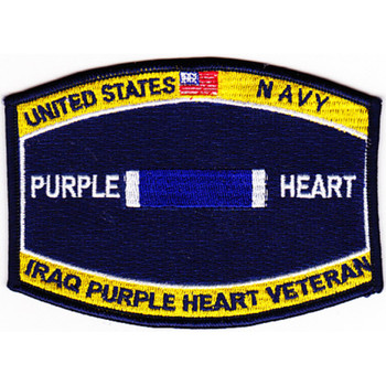 Navy Combat Wounded Rating Badge Of Military Merit Purple Heart Patch Iraq Veteran