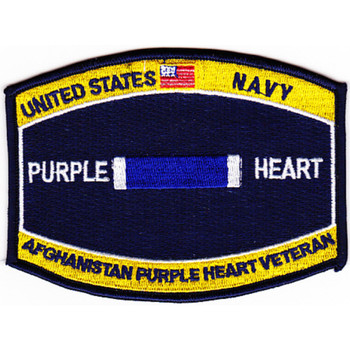 Navy Combat Wounded Rating Badge Of Military Merit Purple Heart Patch Afghanistan Veteran