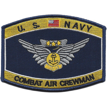 Navy Combat Air Crewman Badge Rating Patch