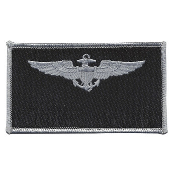 Navy Aviation Pilot Silver Wings Black Patch