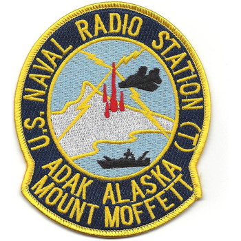 NAVAL Radio Station NCS ADAK Mount Moffett Alaska Patch