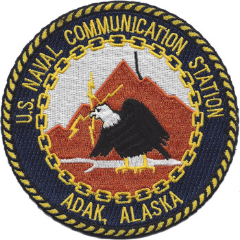 Naval Communication Station Adak Alaska Patch