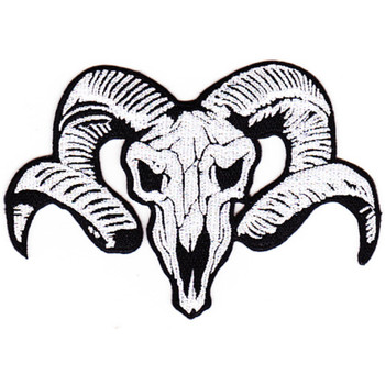 Ram Head Skull Patch