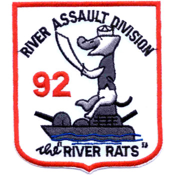 RAD 92 River Assault Division Ninety Two Patch The River Rats