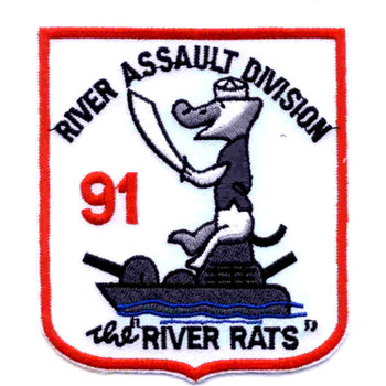 RAD 91 River Assault Division Ninety One Patch The River Rats