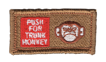 Push For Trunk Monkey Small Pocket Patch Hook and Loop