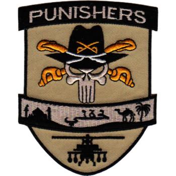Punishers Skull With Stetson Avn Arabic Desert Patch