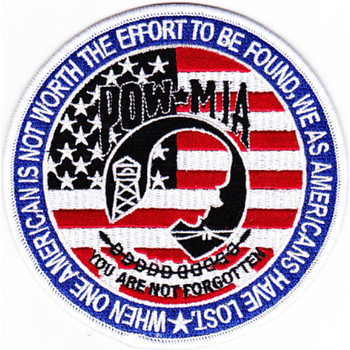 POW MIA Stars and Stripes Patch
