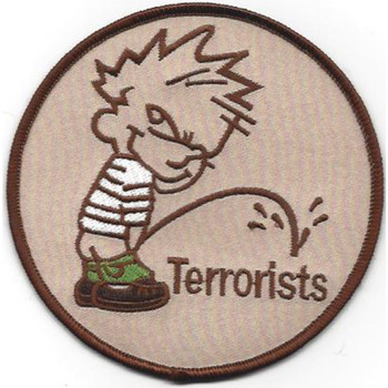 Piss On Terrorists Patch Desert - B Version