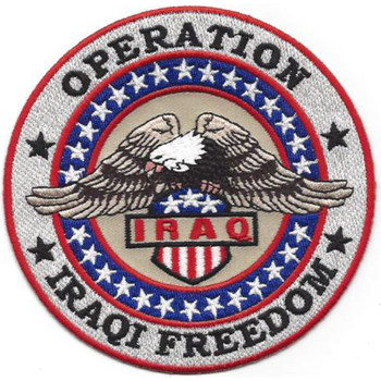 Operation Iraqi Freedom Patch Bald Eagle