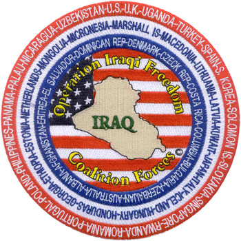 Operation Iraqi Freedom Coalition Forces Patch