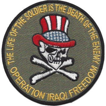 OIF Uncle Sam Skull Patch