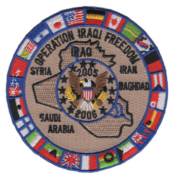 OIF Operation Iraqi Freedom Multi-National Force 2005-06 Patch