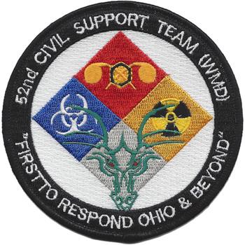 Ohio National Guard 52nd Civil Support Team WMD Patch