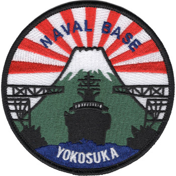 Naval Base Yokosuka Japan Patch - Sun Rays