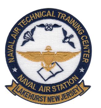 Naval Air Technical Training Center Lakehurst New Jersey Patch