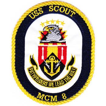 MCM-8 USS Scout Patch