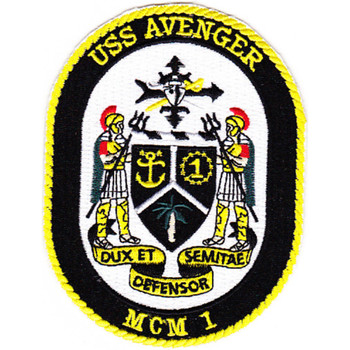 MCM-1 USS Avenger Patch