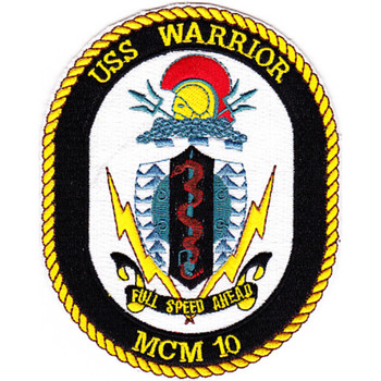 MCM-10 USS Warrior Patch