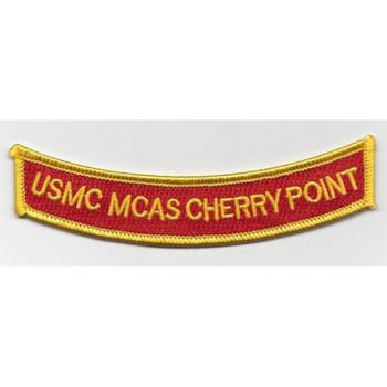 MCAS Cherry Point Ribbon MOS Rocker Patch