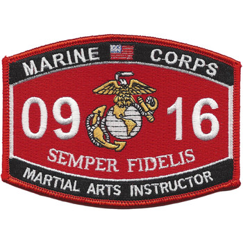Martial Arts Instructor 0916 Patch