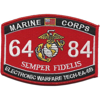 Marine MOS 6484 Electronic Warfare Tech-EA-6B Patch