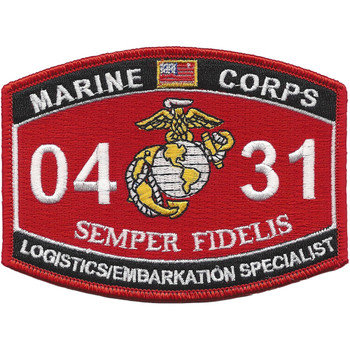 Marine MOS 0431 Logistics Embarkation Specialist Patch