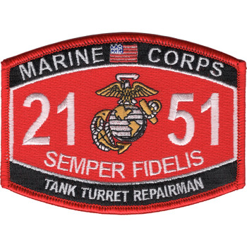 Marine Corps 2151 Turret Repairman MOS Patch