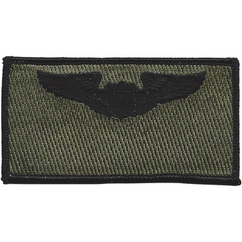Pilot Wings Black OD Patch