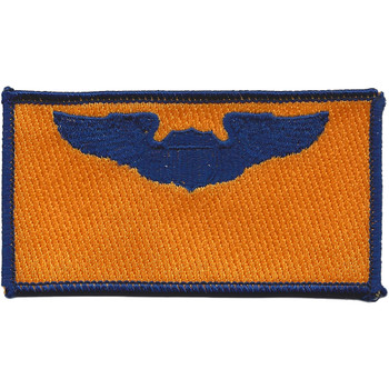 Pilot Wings Air Force Name Patch Gold And Blue