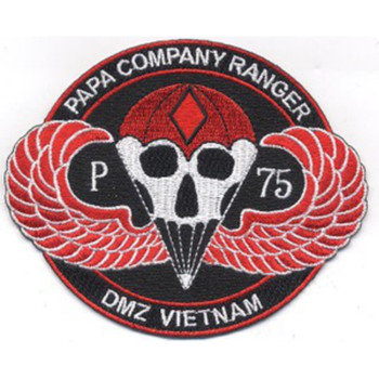 Papa Company Rangers Regiment Patch DMZ Vietnam