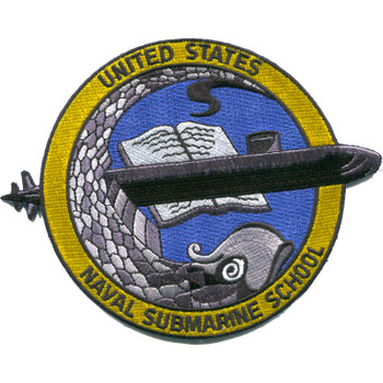 Naval Submarine School Patch