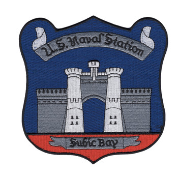 Naval Station Subic Bay Philippines Patch-Black