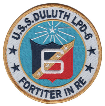 LPD-6 USS Duluth Amphibious Transport Dock Ship Patch