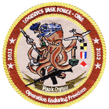 Logistic Task Force One Navelsg Plank Owner OEF 2011- 2012 Patch Hook And Loop