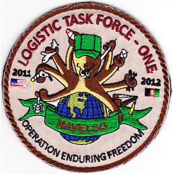 Logistic Task Force One Navelsg OEF 2011-2012 Patch Hook And Loop