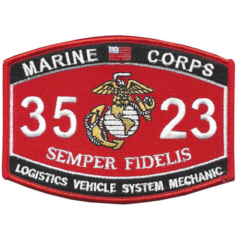 Logistics Vehicle System Mechanic 3523 MOS Patch