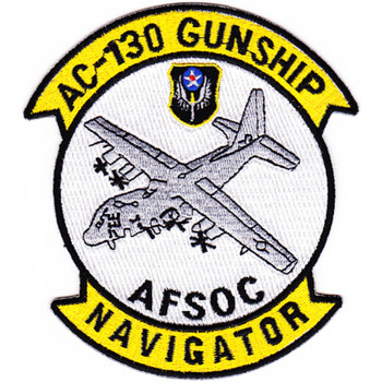 Lockheed AC-130 Gunship Patch AFSOC Navigator
