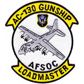 Lockheed AC-130 Gunship Patch AFSOC Loadmaster
