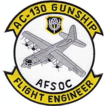 Lockheed AC-130 Gunship Patch AFSOC Flight Engineer