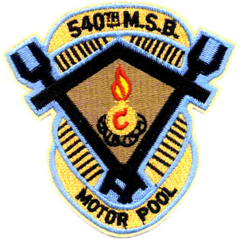 540th Maintainance Battalion Patch  - Version A