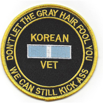 Korean War Gray hair Vets Patch