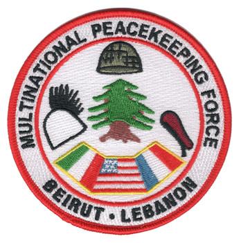 Multinational Peacekeeping Force Beirut Lebanon Patch