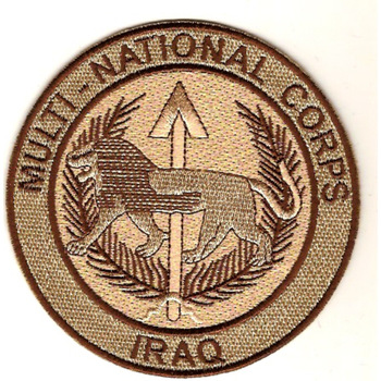 Multi-National Corps Patch Iraq Desert