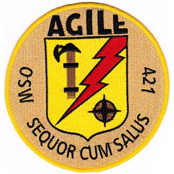 MSO-421 USS Agile Mine Sweeper - Ocean Ship Patch