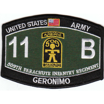 509th Airborne Infantry Regiment 11th Battalion MOS Patch