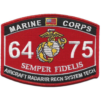 MOS 6475 Aircraft Radar, IR Recon. System Tech. Patch