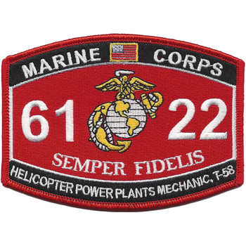 MOS 6122 Helicopter Power Plants Mechanics, T-58 Patch