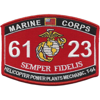 MOS 6123 Helicopter Power Plants Mechanic, T-64 Patch