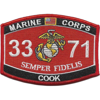 MOS 3371 Cook Patch